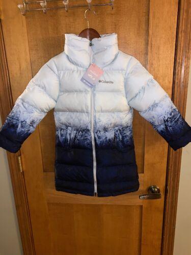 NWT Columbia Disney Frozen II Elsa Long Puffer Jacket Girls Youth XSmall 5//6