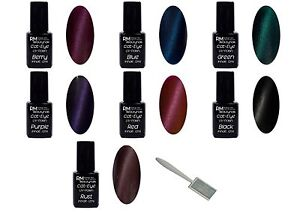 Cat Eye Uv Polish 12ml Gel Lila Violett Blau Schwarz Nageldesign