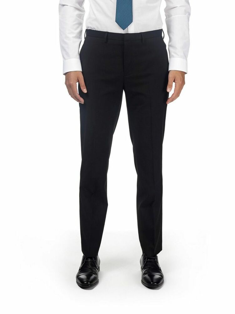 Ages 9-16 Garçons Pantalon Skinny Ecole Slim Fit Noir Gris Court Régulier
