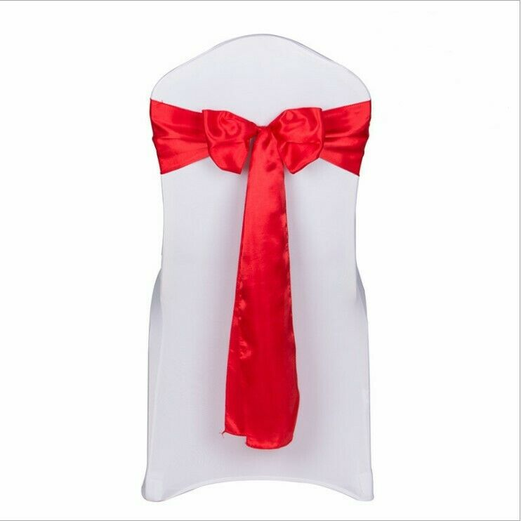 rot satin chair sashes tie chair bows ribbons wedding birthday party decoration