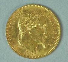 1864 FRENCH 20 FRANC NAPOLEON III GOLD COIN Lot 98