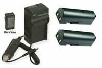 Two 2 D-l172 D-li72 Batteries + Charger Kit For Pentax Optio Z10 Digital Camera