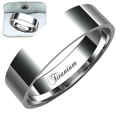 Brand New Argentium 958 Silver Court Profile Edge Patterned Wedding Ring Band