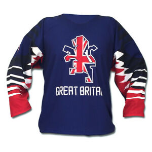 e1002a76c Team Great Britain Blue Ice Hockey Jersey 2019 Custom Name and ...