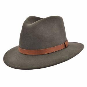 La imagen se está cargando Caballeros-deformable-darkgreen-100-Lana-Sombrero -De-Fieltro- 4f88917d36d