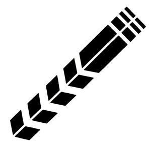 2x-Sportstreifen-Rennstreifen-Aufkleber-Sticker-Racing-Motorrad-Auto-Rennsport
