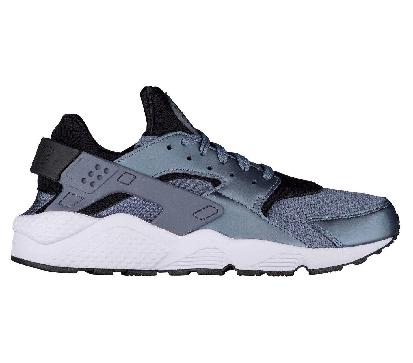 Nike Air Huarache Mens 318429-419 Armory Blue Black Running Shoes Size 8