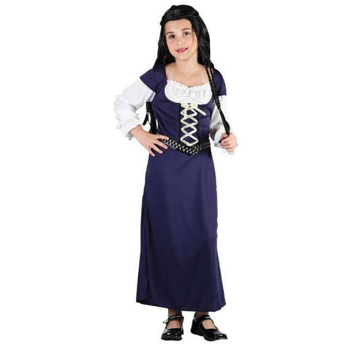 Maid Marion Fancy Dress Girls Medieval Costume Tudor Girl Book Day Costumes 4-12