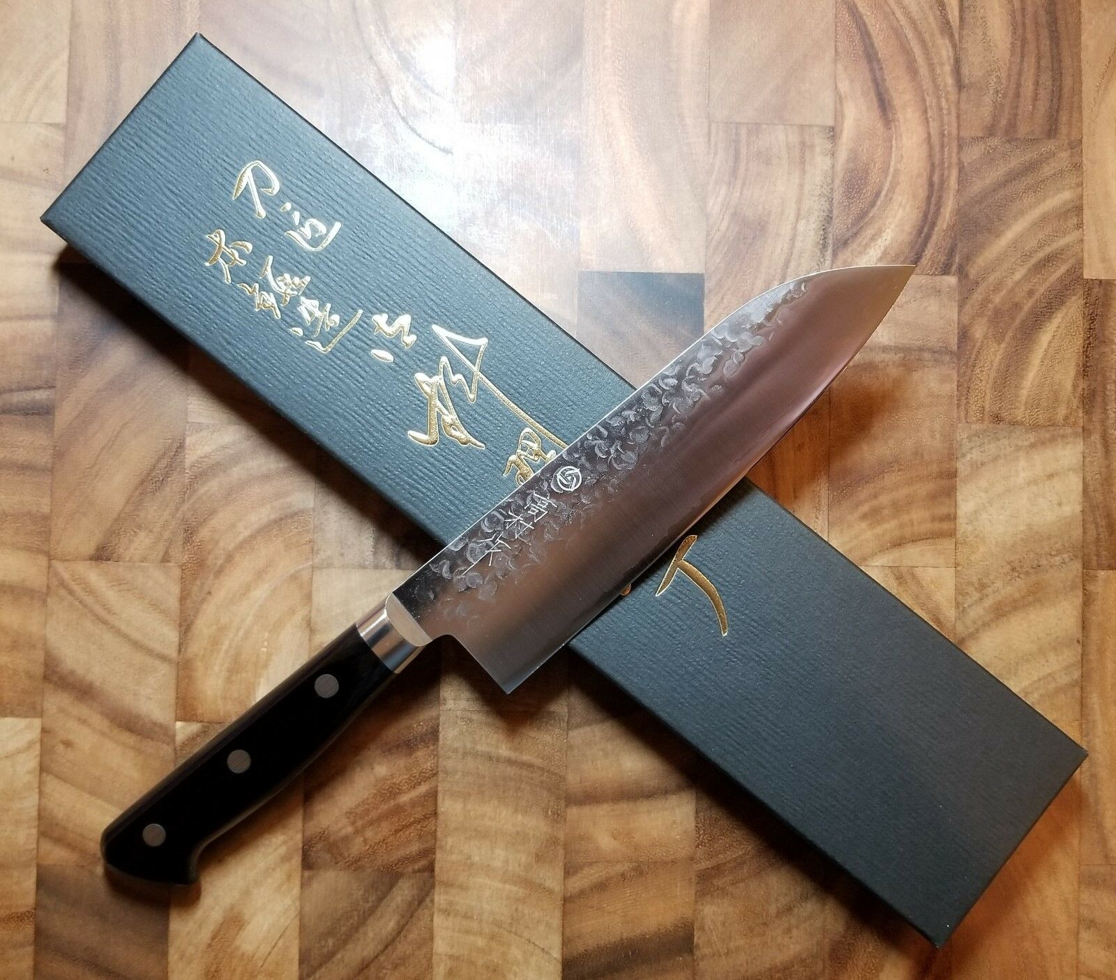 Takamura Nashiji 165 mm JAPONAIS SANTOKU Couteau-VG10 en Acier Inoxydable-Martelé