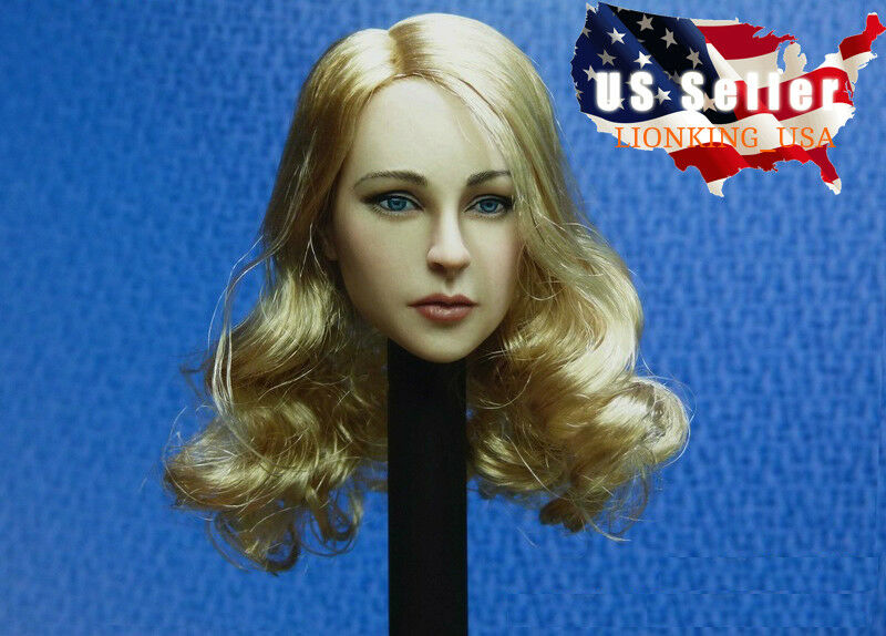 1 6 American Female Head Sculpt Blonde Hair For PHICEN Hot Toys Figure ❶USA❶