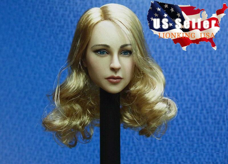 1 6 American Female Head Sculpt Blonde Hair Hair Hair For PHICEN Hot Toys Figure ❶USA❶ 9ec9e2