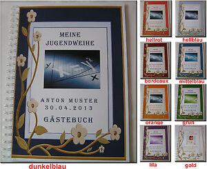 Gaestebuch-Fotoalbum-Jugendweihe-Jugendfeier-Geschenk-Einladung-Karte-3D-Blume