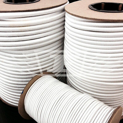 Ropes, Cords & Slings 8mm Diameter White Luggage Elastic Stretchy Bungee Cord Rope Various Lengths Strengthening Sinews And Bones Sporting Goods
