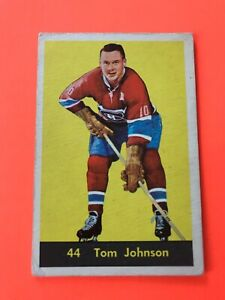 TOM-JOHNSON-1960-61-PARKHURST-HOCKEY-CARD-44-MONTREAL-CANADIENS