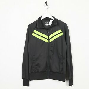 VINTAGE-Nike-Piccolo-Logo-Tuta-da-ginnastica-TOP-giacca-grigio-verde-MEDIA-M