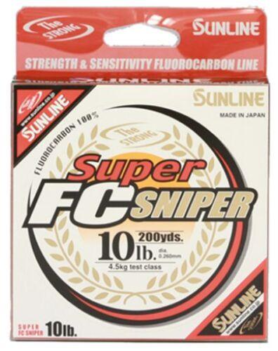 200 m Ligne claire environ 4.54 kg Sunline Super FC Sniper 10 lb
