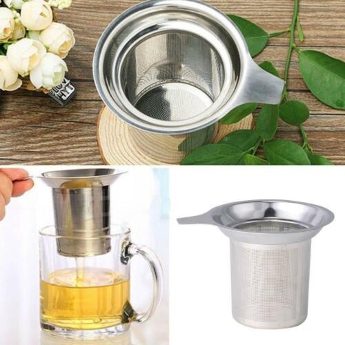 Edelstahl-Netz-Tee-Infuser-Sieb Lose Tee-Blatt-Filtersieb-Metallschale* U7O4