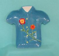 Hawaiian Shirt Serving Plate In Blue - - Great For Display