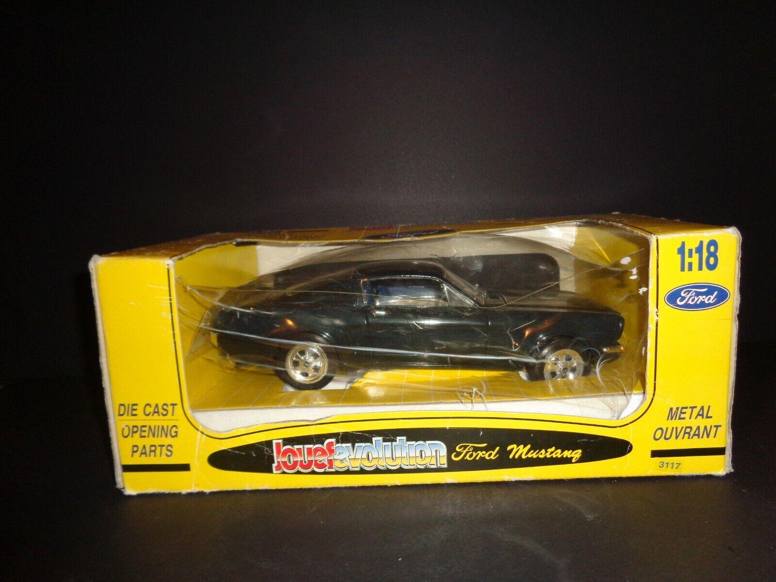 compra limitada Vintage Nuevo en Caja Jouef evolución Die Cast Cast Cast Negro Mustang 1 18 Modelo no. 3117 Italia  calidad garantizada