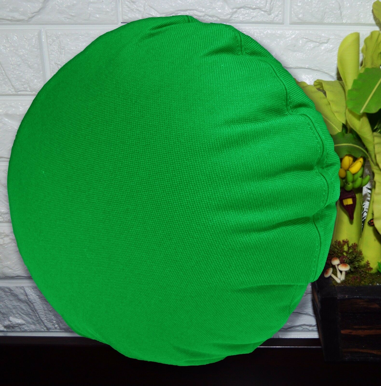 PL Plain Color Canvas Outdoor Water Proof Round Shape Cushion Cover Custom Size