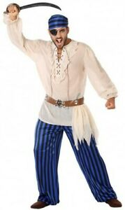 Deguisement-Homme-Pirate-CORSAIRE-Bleu-S-Adulte-NEUF