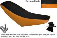BLACK & ORANGE CUSTOM FITS SUPERBYKE RMR 125 DUAL LEATHER SEAT COVER ONLY