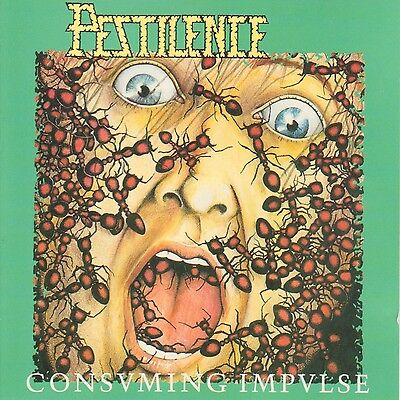 PESTILENCE - Consuming Impulse Album Cover Print 12x12 RARE