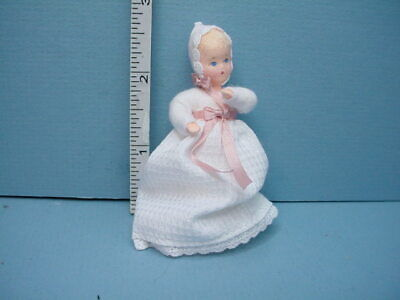 Doll,Handcrafted Erna Meyer 12th Miniature Young Girl wi Long Hair #10308 DH