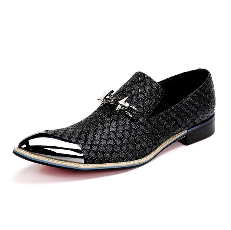 Herren Komfort Business Schuhe leder Luxus Fashion Slipper Spitz Gr.38-46
