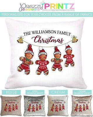 Personalised Cushion Family Tree Pillow Keepsake Mothers Day Christmas Nan Dad