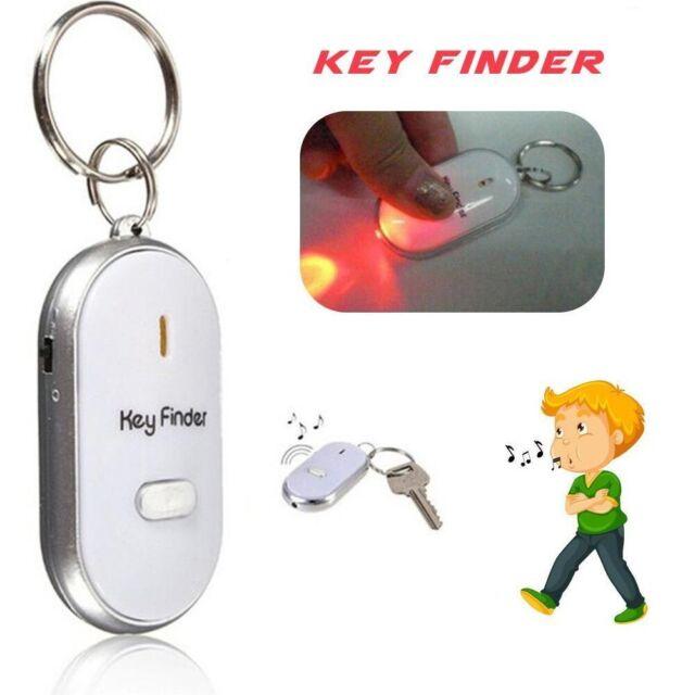LED Wireless Whistle Key Finder Response w/ Flash Anti-Lost Key Ring Beep Sound