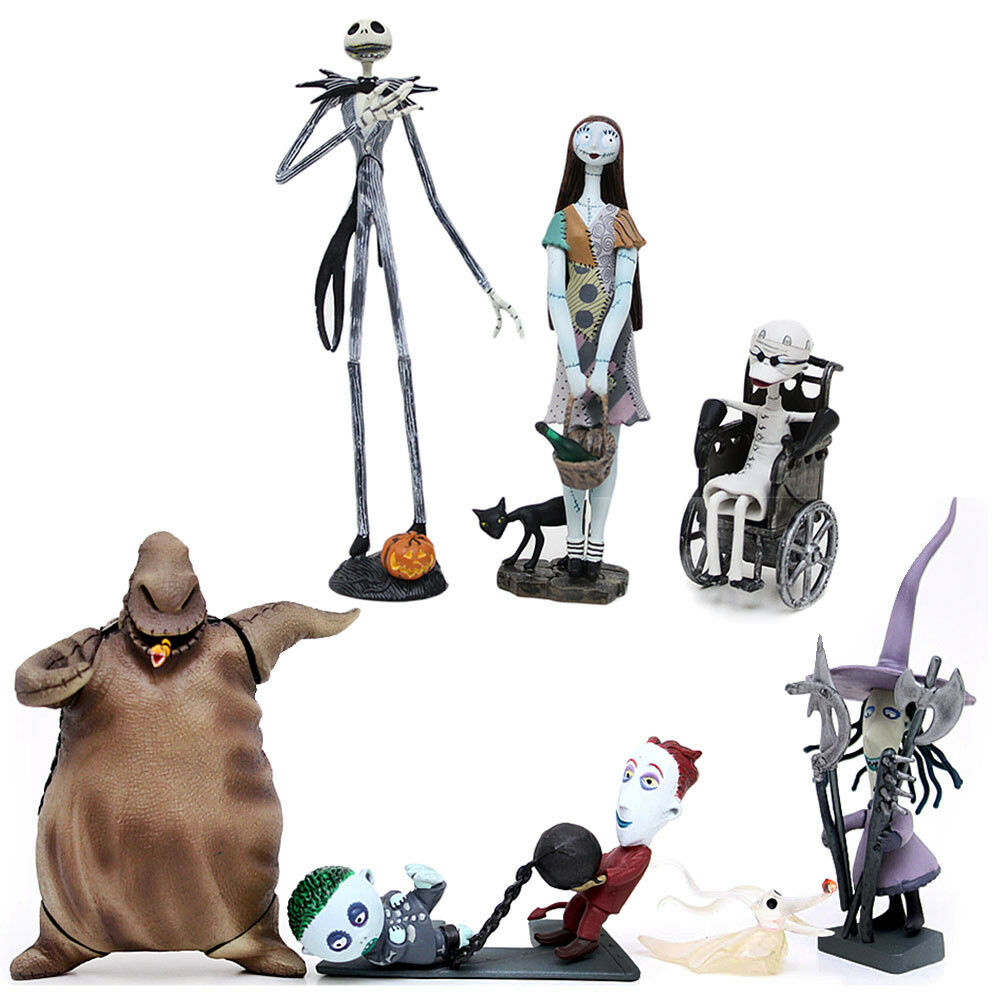 Figuras comerciales de navidad Nightmare Before serie 1 6pc Set