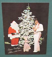 Elvis Presley Las Vegas Hilton Hotel 1975 Seasons Greetings Postcard 5 x 7 NM