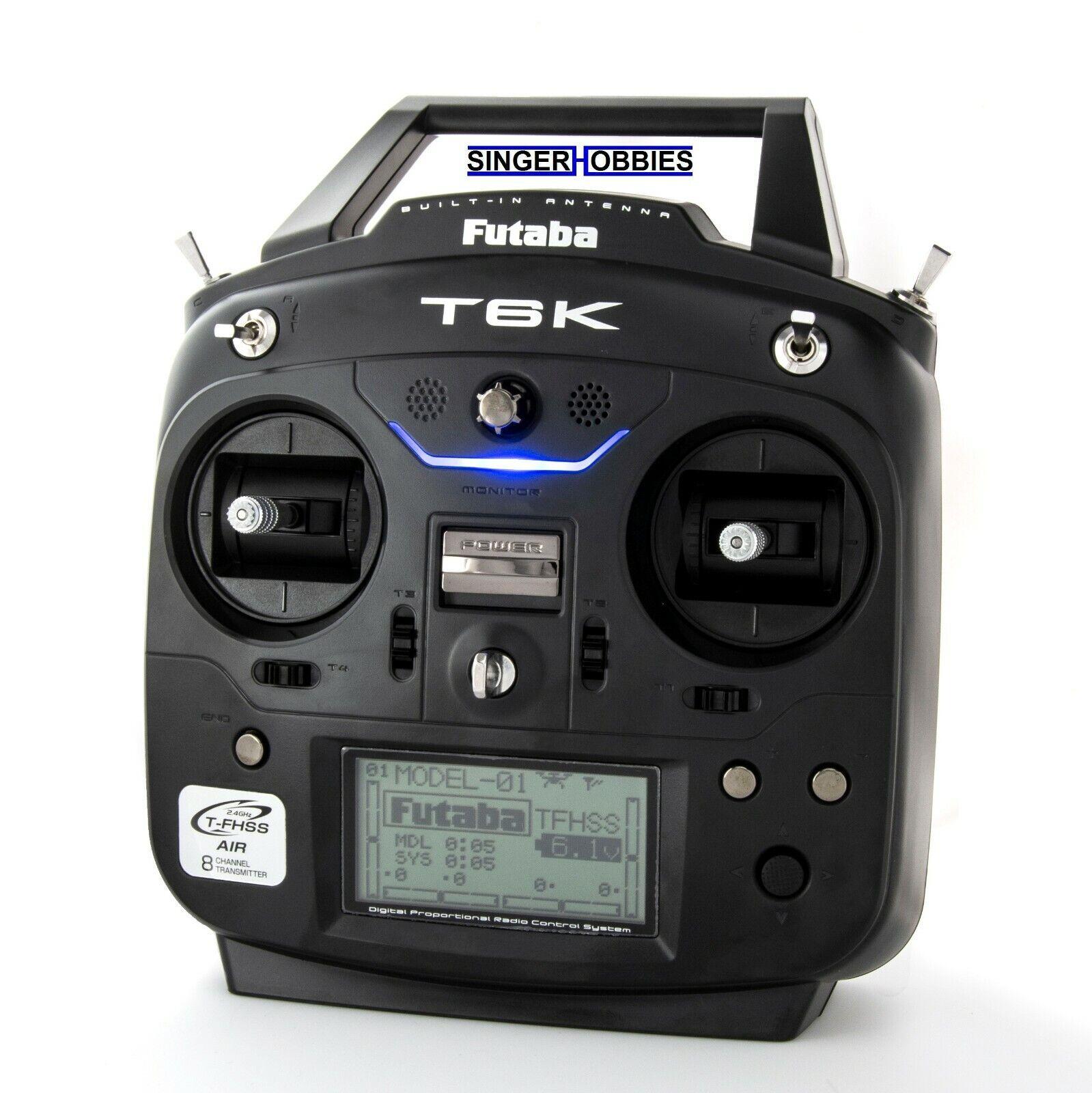 Futaba T6KH 2.4GHz T-FHSS Avión Radio con R3006SB receptor FUT01004373-3 HRP