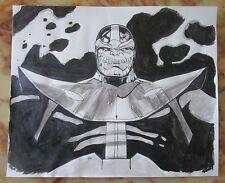 ORIGINAL THANOS 14x17 Ink Wash J.Alexander Black/White MARVEL Avengers GOTG lee