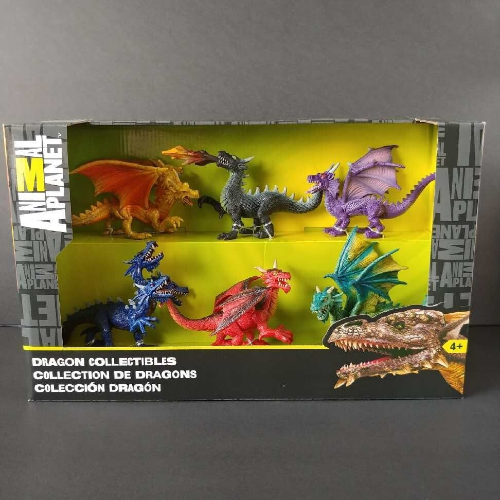 Animal Planet Dragon Collectibles Playset 6 Dragons Toy R Us 2016 Nuovo