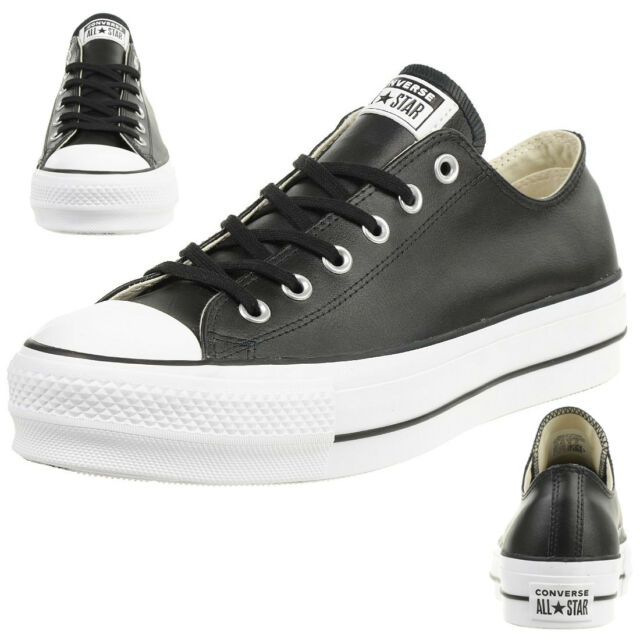 d79224d0deaf Converse C Taylor all Star Lift Clean Ox Chuck Shoes Leather Platform  561681c