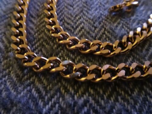 Details about  /CLEARANCE  Brand New 18K Rose Gold Over Silver Heavy Curb Necklace Chain