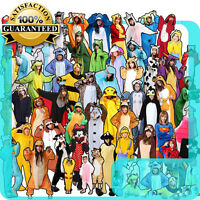 Hot Fancy Dress Cosplay Onesie80 Adult Unisex Hooded Pyjamas Animal Sleepwear UK