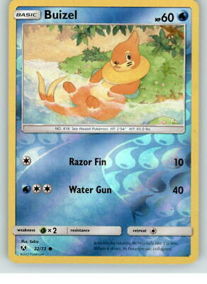 Shining Legends 22//73 Buizel Reverse Holo Mint Pokemon Card