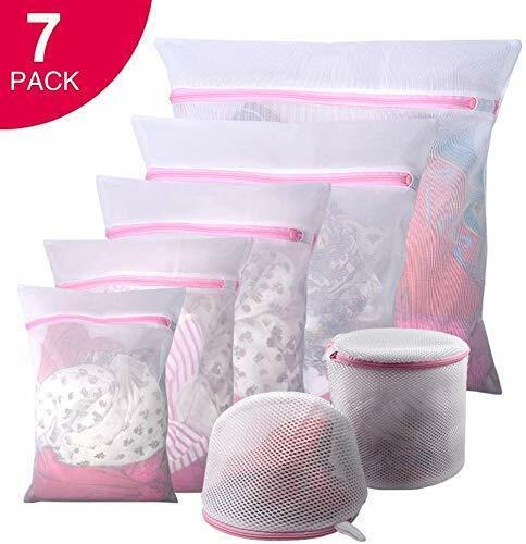 Reuse Durable Washing Machine Bag for Delicates GOGOODA 7PCS Mesh Laundry Bags