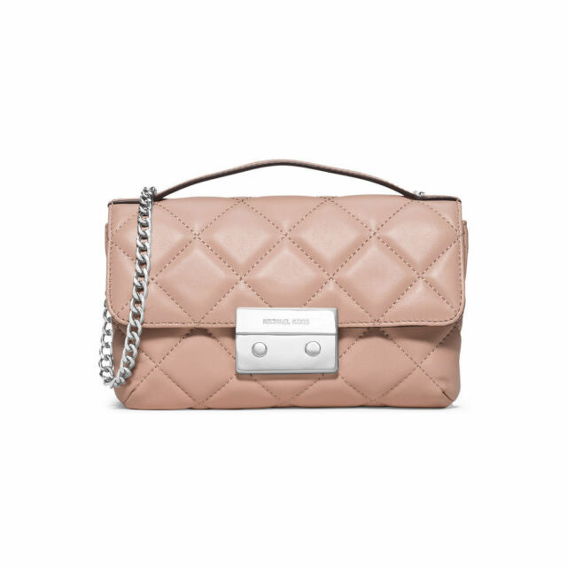5e97301dfc7 Michael Kors Sloan Small Quilted Messenger Leather Cross Body Ballet MSRP   258