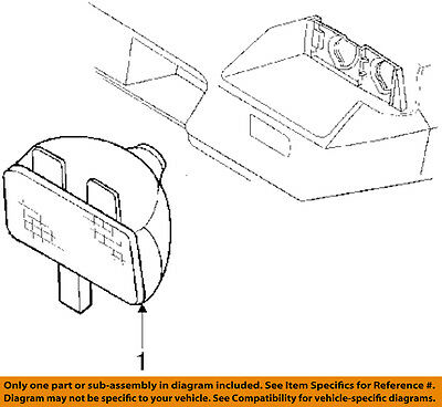 Genuine GM Parts 5978552 Passenger Side Parking Light Assembly Genuine General Motors Parts