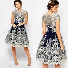 New Fashion Elegant Short Lace Dress Prom Evening Party Cocktail Wedding Dress X