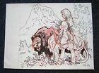 Tim Vigil Original Art C092 Big Cat Jungle Girl Faust