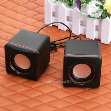 USB Powered Portable Mini Audio Speaker Subwoofer for Laptop Notebook Desktop