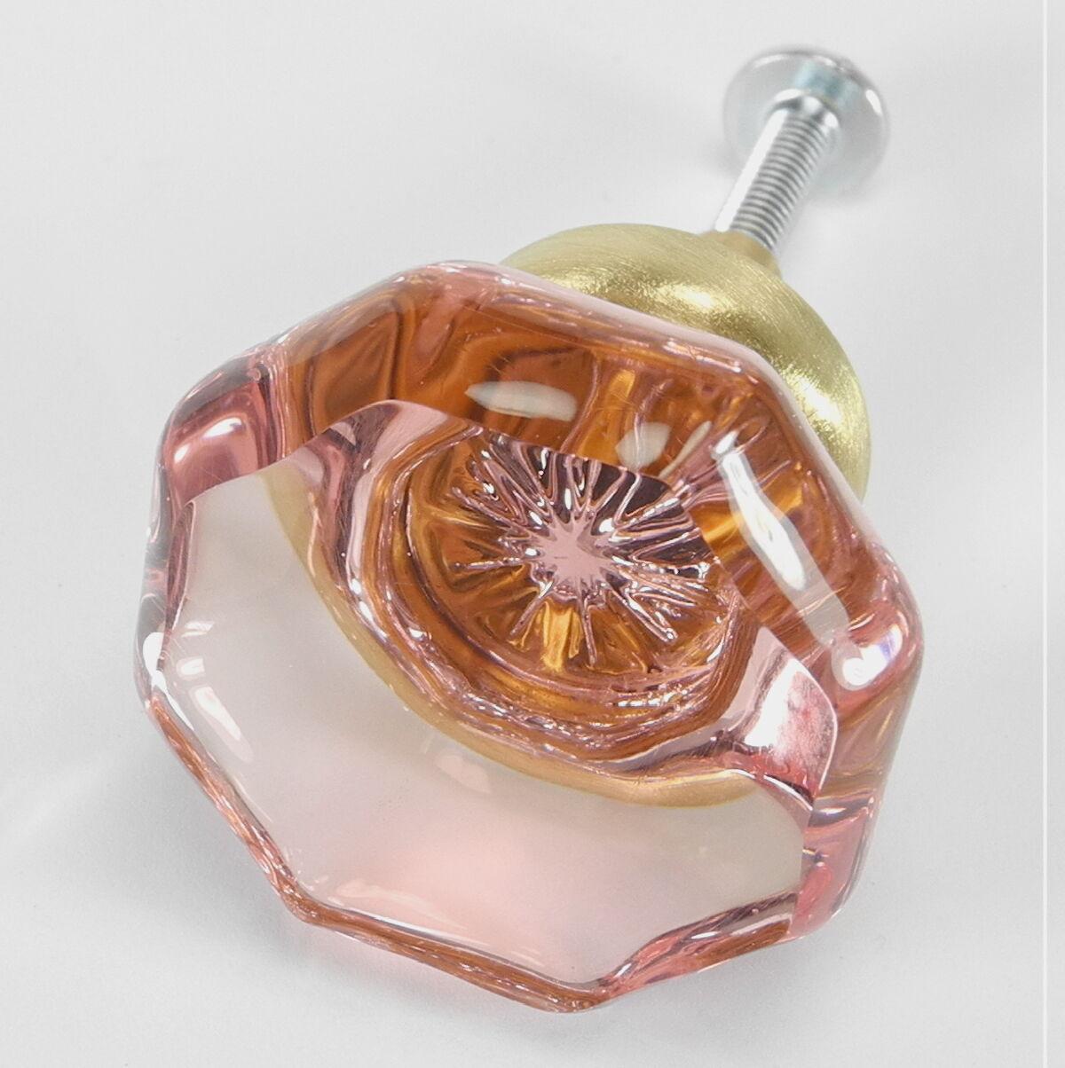 Glass Cupboard Knobs, Kitchen Cabinet Door Pulls and Brass Drawer Handles Set 12