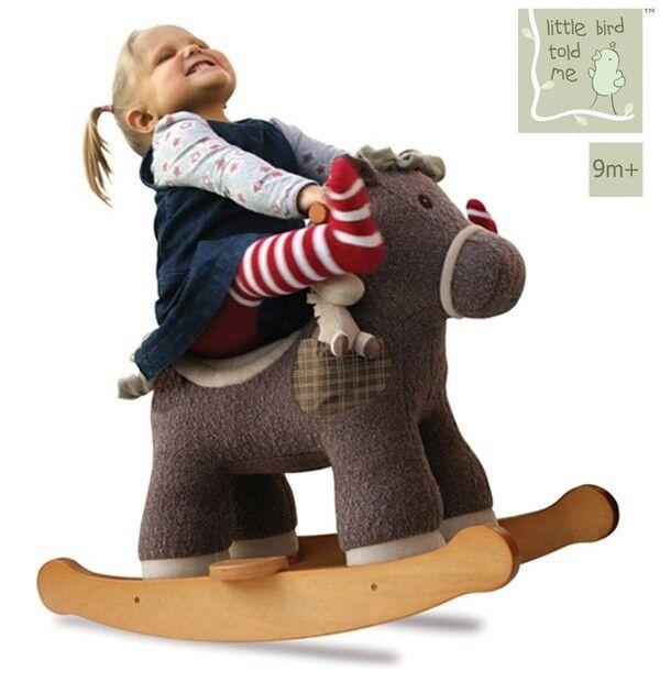 piccolo Bird mi ha detto Bobble e Pip bambino Rocker cavallo Natale regalo