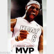 "NBA Basketball MVP Poster LeBron James 6 Miami Heat 2012 2013 Season 11""x19"""