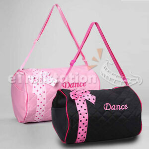Image Is Loading S Dance Duffle Bag Kids Quilted Ribbon Polka